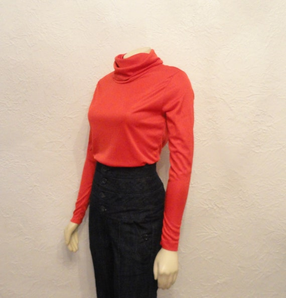 Turtle Neck Satin Blouse 8
