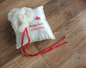 Stardust Wedding Ring Pillow - Embroidered Ring Pillow - Available in all colours - 15% Discount included