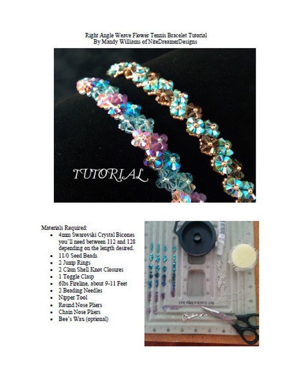 Right Angle Crystal : Tutorial pdf right angle weave swarovski crystal flower