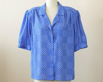 SALE 1980s Top NWT / 80s Blouse // The 9 to 5 Top