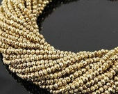 Gold Pyrite Beads Natural 5 to 13 Inch Strand Drilled 3.5mm Rondelle Semiprecious Faceted Gemstone Beads Take 20% Off Jewelry Craft Supply