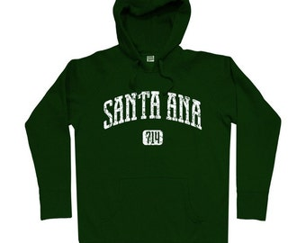Santa Ana 714 Hoodie - Men S M L XL 2x 3x - Santa Ana California Hoody Sweatshirt - 4 Colors