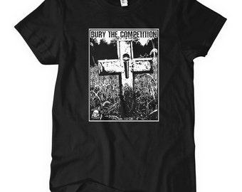 Women's Bury the Competition T-shirt - S M L XL 2x - Ladies' Hip Hop Tee - 4 Colors