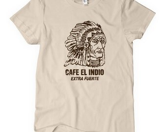 Women's Extra Fuerte T-shirt - S M L XL 2x - Vintage Coffee Sign Ladies' Tee - 4 Colors