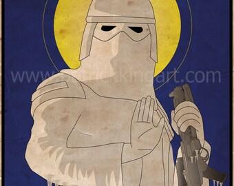 Star Wars - Imperial Saints - Snowtrooper Art Print