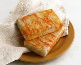 Sweet Amber Musk Soap, Olive Oil Soap, Felted Soap, Shea Butter Soap, Cold Process, Handmade, Burnt Orange Soap, Bar Soap, Bath Soap