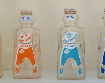 Space Age Bottle 1950's - Spaceman/Robot Galaxy Syrup Bottle Bank