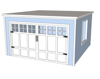 Doll Garage Plans for American Girl or 18 inch dolls - NOT ACTUAL GARAGE