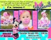 Minnie Mouse invitation Minnie invite Minnie Dream Party Invite Minnie Mouse Dream Party Bowtique Minnie Mouse Bow-tique Birthday Party