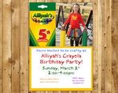 Crayola Birthday Invite Craft Birthday Party Invitation Art Birthday Party Invite kids party invite crayon birthday Paint Birthday Invite