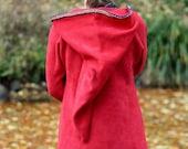 Elf hoodie for women short- Medieval hoodie-SCA  - Pixie hoodie - Psy hoodie- festival - pointy hood - hippie hoodie - game of thrones