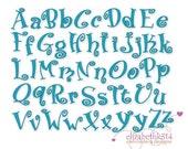 """Bx format- Instant Download- BOINGO 231  - Machine Embroidery fonts 1"""" - 2"""" - 3"""" - bx- pes-dst- exp- hus- jef- vip-xxx formats"""