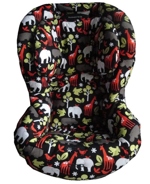 custom toddler replacement britax car seat cover zoology. Black Bedroom Furniture Sets. Home Design Ideas