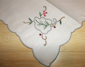 "5 Vintage Napkins...New Old Stock..16"" Square...Perfect"