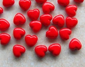 10mm Red Acrylic Heart Beads, 25 PC (IND0C09)