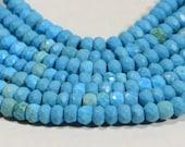 Sleeping Beauty Turquoise Beads Natural Gemstone Beads Jewelry Making Supplies