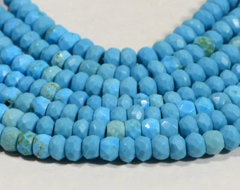Sleeping Beauty Turquoise Beads Natural Gemstone Beads Jewelry Making Supplies