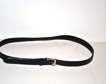 Vintage Polo Ralph Lauren black Italian leather belt   Fathers Day gift size 42/105