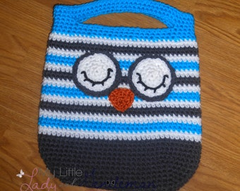 Crochet Owl Tote- Ready to Ship