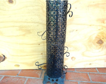 Vintage wrought iron lamp