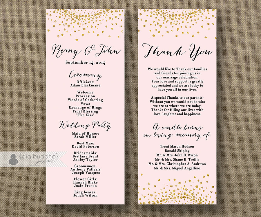 Blush Pink & Gold Glitter Wedding Program Double Sided. Wedding Photography Detroit Mi. Wedding Veils In Downtown La. Beach Wedding Dresses Over 40. Wedding Singer Tony Awards. Wedding Invitation Wording No Reception. Wedding Theme Ideas June. Wedding Bands With Hearts. Wedding Rings In Rose Gold