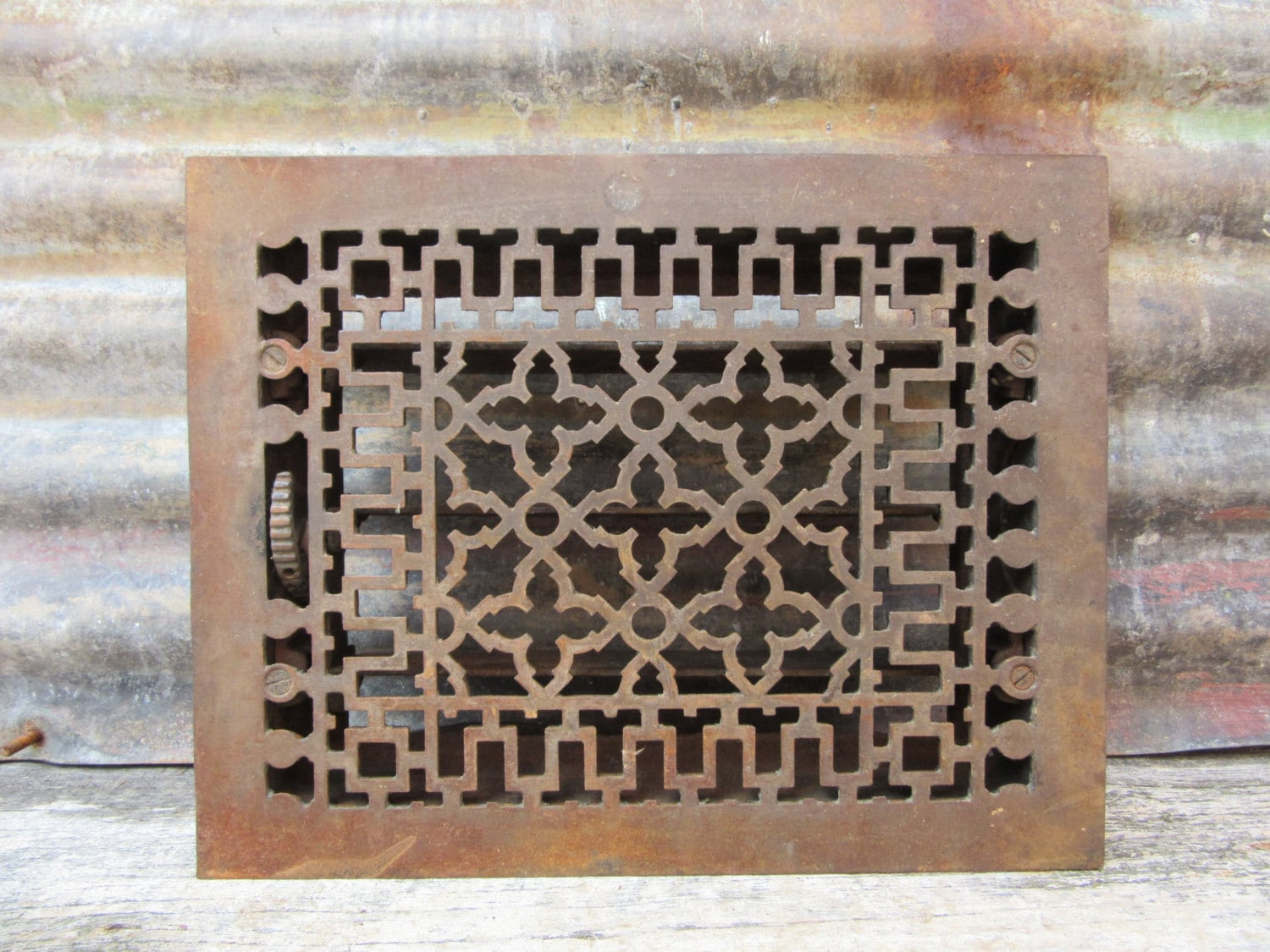 #8D623E Antique Metal Heating Duct Cover Register Plate Ornate Iron Best 3573 Heating Duct Covers photos with 1500x1125 px on helpvideos.info - Air Conditioners, Air Coolers and more