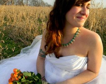 Pink and blue Necklace Wedding Sundance style jewelry