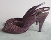 20% Off Sale! Vintage Evan Picone Lilac/Orchid Peep Toe Slingbacks/Heels 7.5