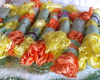 Ninety Six Skeins of Pure Silk Vintage Embroidery~Handmade Thread from India