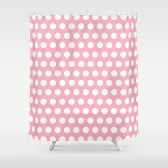 rose et blanc pois rideau de douche rideaux de douche de salle de bain r tro pois rose et. Black Bedroom Furniture Sets. Home Design Ideas