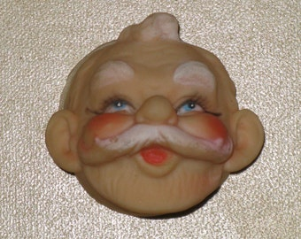 Vintage Santa Doll Head 1960's for Crafts and Decorating New ADORABLE Vintage Christmas