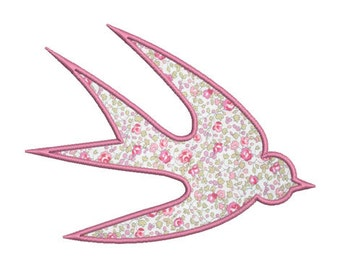 Instant download swallow embroidery design machine applique