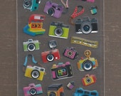 Kawaii Toy Camera (LOMO) Epoxy Stickers