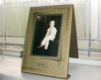 Vintage Photograph Young Boy in White Clothes