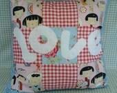Handmade LOVE Seat Cushion