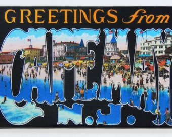 Greetings from Cape May Fridge Magnet