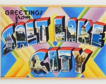Greetings from Salt Lake City Fridge Magnet