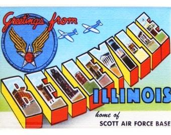 Greetings from Belleville Fridge Magnet