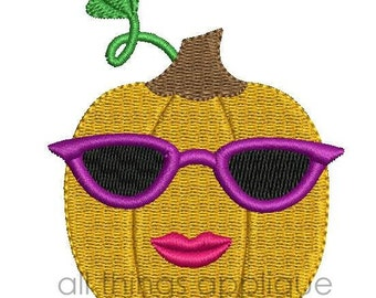 Glam Pumpkin Mini Embroidery Design - 4 Sizes - INSTANT DOWNLOAD