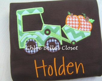 Front Loader Pumpkin Shirt