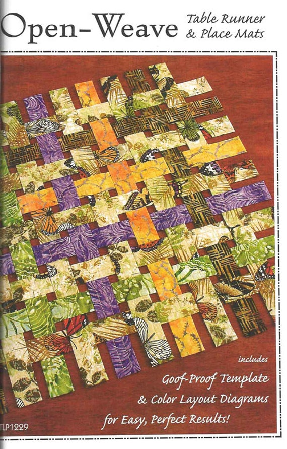 Basket Weave Table Runner Pattern : Table runner pattern open weave place