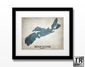 Nova Scotia Canada Map Print - Home Is Where The Heart Is Love Map - Original Personalized Map Print in Multiple Sizes & Colors