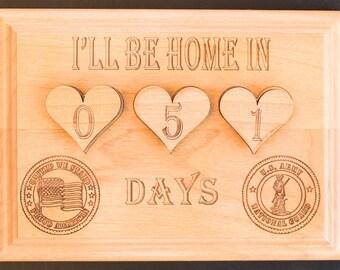 Military Calendar Countdown Calendar Plaque US Army Reserve National Guard Navy Seabee Submarine Coast Guard Medical Air