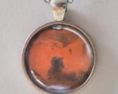 Planet pendant, Mars Pendant Necklace - Star, Cosmo, Universe, NASA- Galaxy Pendant Series
