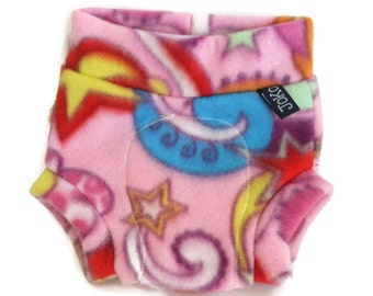 Pink Party Fleece Diaper Cover / Soaker SMALL