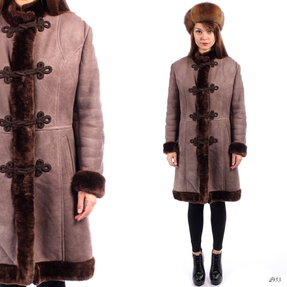 Vintage Shearling Coat Russian Princess Coat Fur Coat