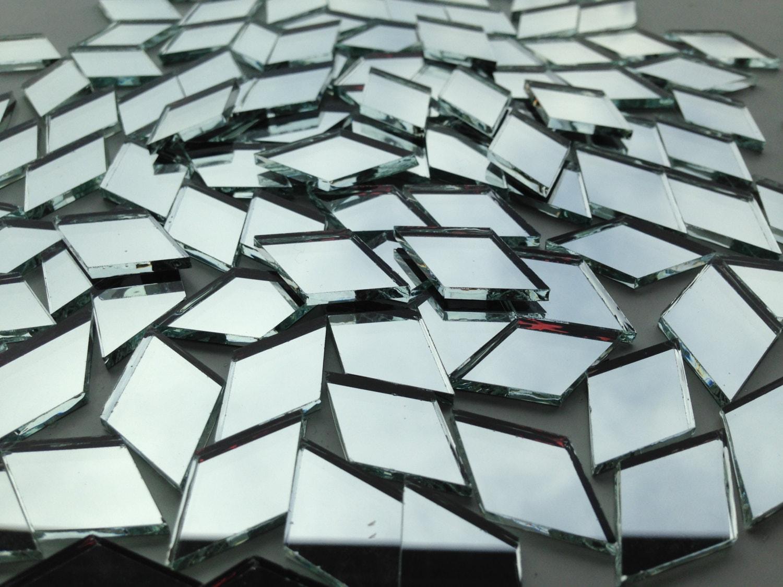Mosaic tiles mirror 100 small diamonds mirror glass for Diamond cut floors