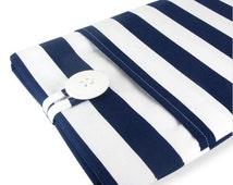 Kindle Paperwhite Case, Kindle Paperwhite Sleeve, Kindle Paperwhite Cover,Kindle Cover,Kindle Sleeve,Kindle Case - Navy Stripe