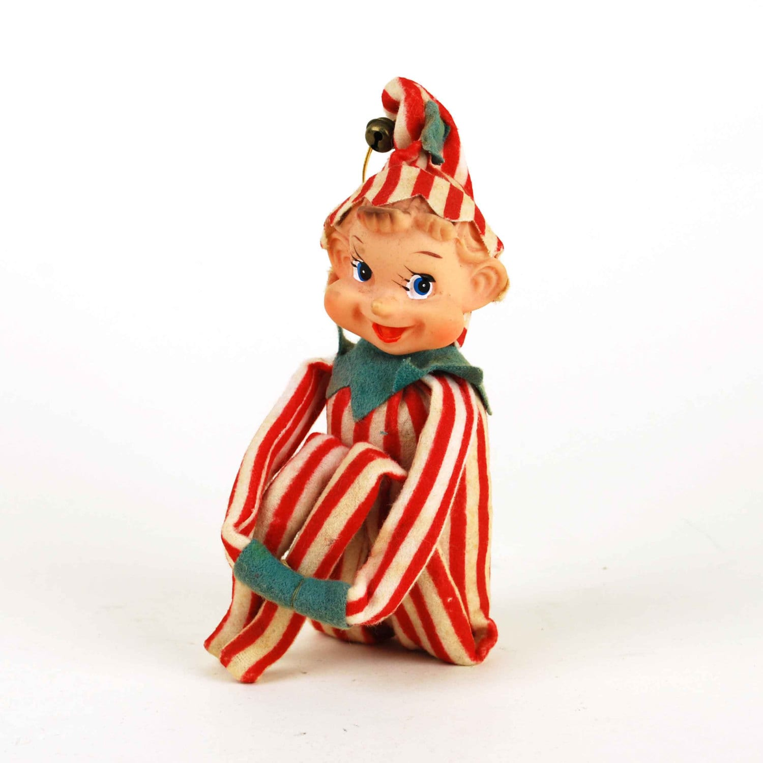 Vintage Candy Cane Striped Christmas Elf by ...