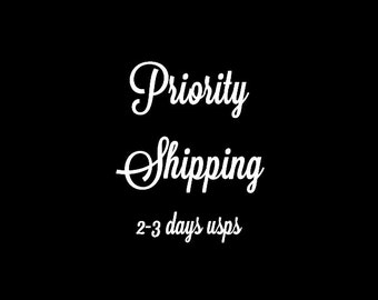 Priority mail upgrade- upgrade to priority shipping-2-3 days shipping US ONLY